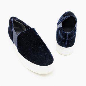 Vince Warren Blue Velvet Slip on Sneakers Size 8